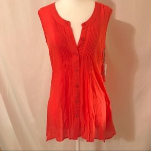 FYLO London Coral Sleeveless Top Size Small